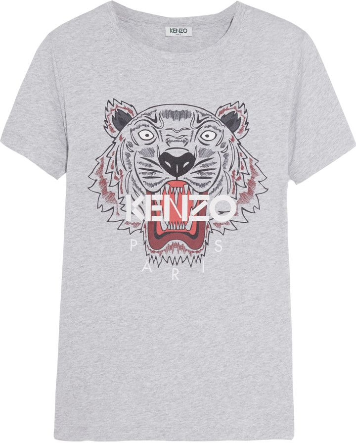 Kenzo Printed cotton jersey T shirt | Shirts, T shirts for