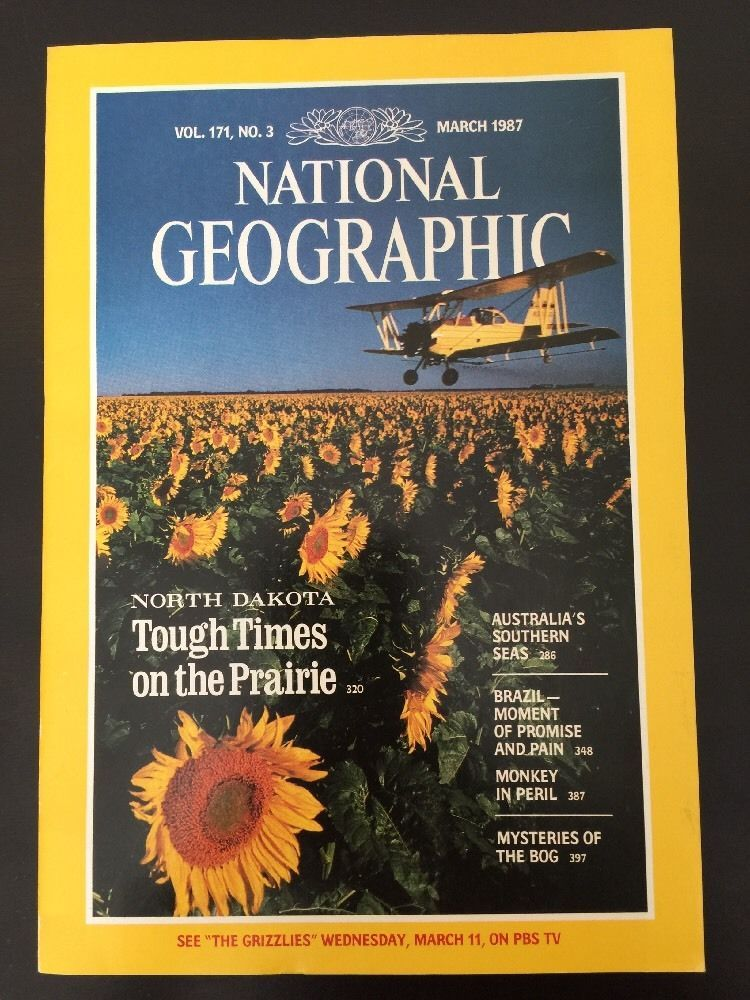 National Geographic Magazine March 1987 No Map