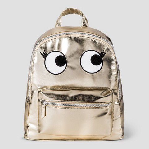 331a21c66e Cat   Jack Kids  Metallic Backpack with Eyes - Gold