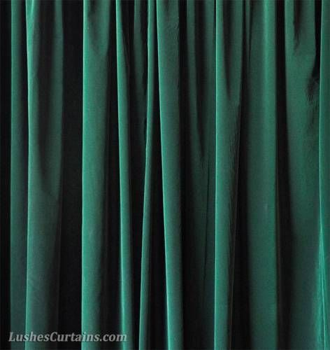 84 Inch H Dark Forest Green Home Living Room Window Velvet Curtain