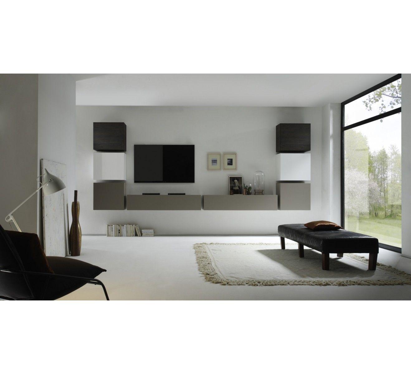 Beau Ensemble Meuble Tv Gris Décoration Française Pinterest - Sofamobili meuble tv pour idees de deco de cuisine
