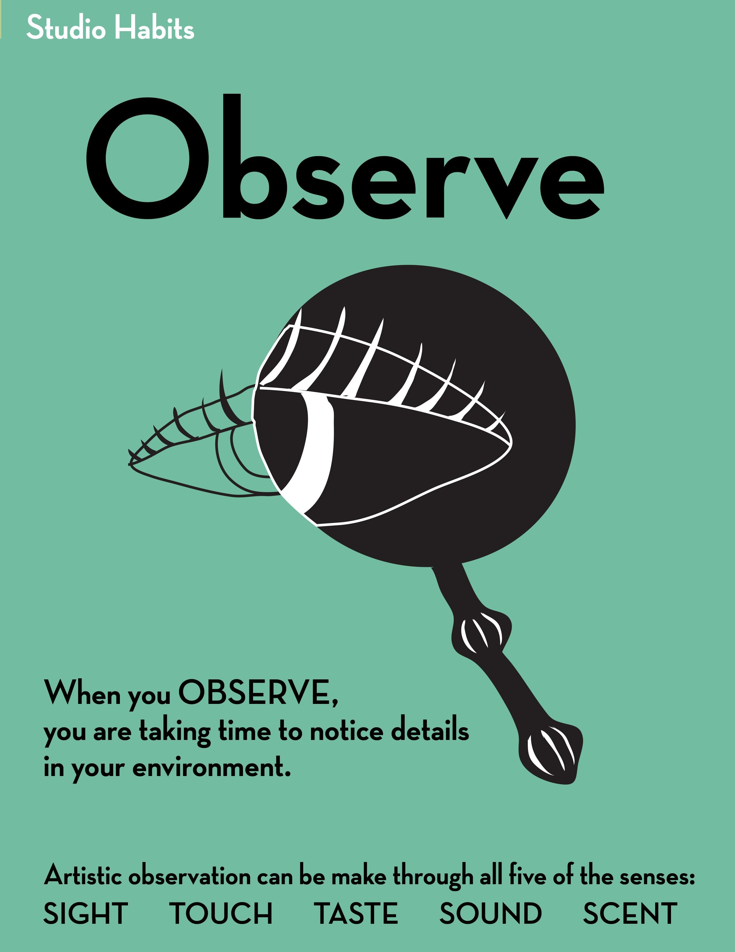 Studio Habits Of Mind Observe