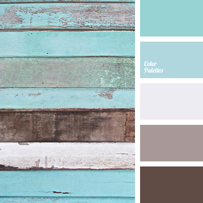 Brown Color Schemes cool palette in which muted turquoise and soft blue colors