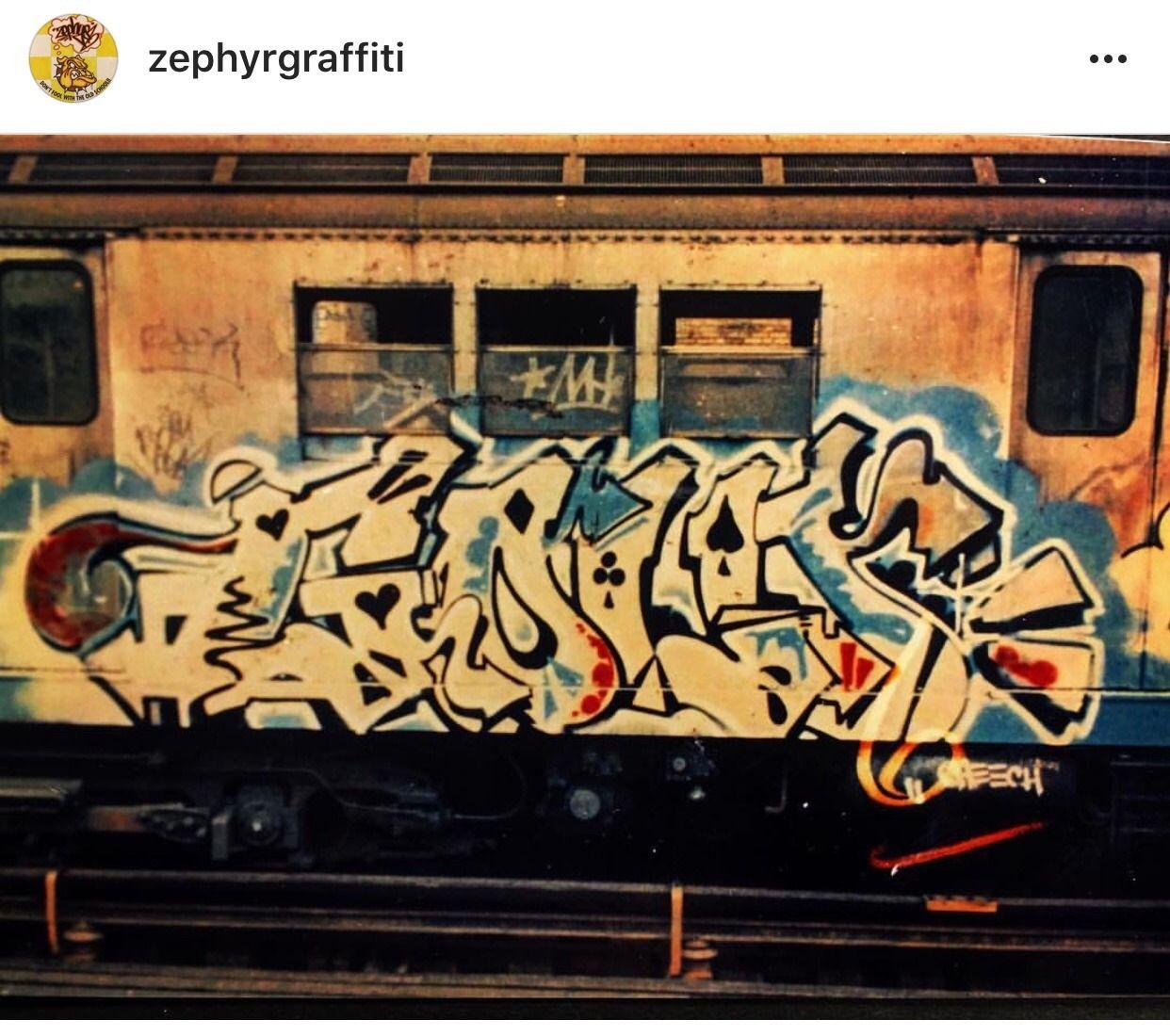 Nyc subway graffiti 1970s mid 1990s gold zephyr