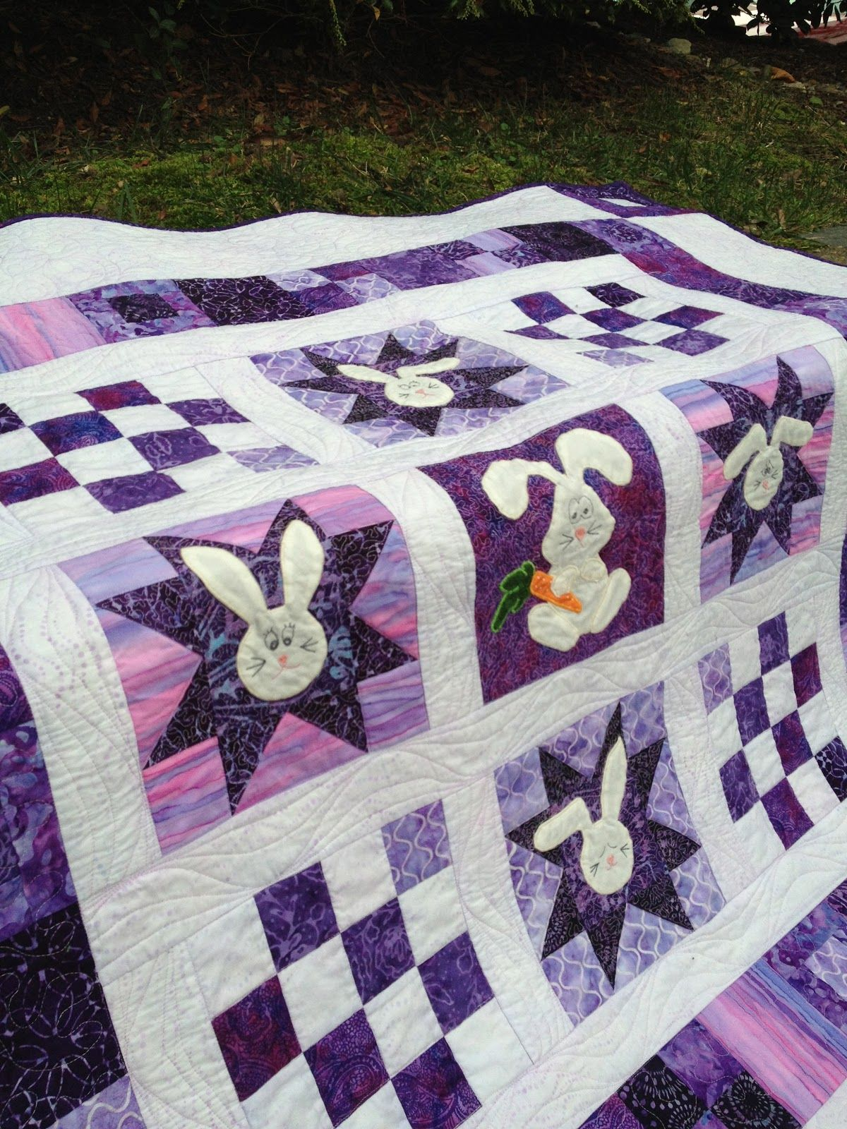 Purple Bunny Quilt is finished!