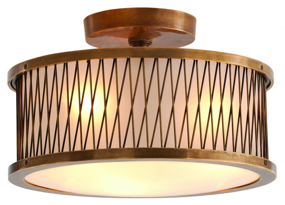 Arteriors home optic small flush mount fixture