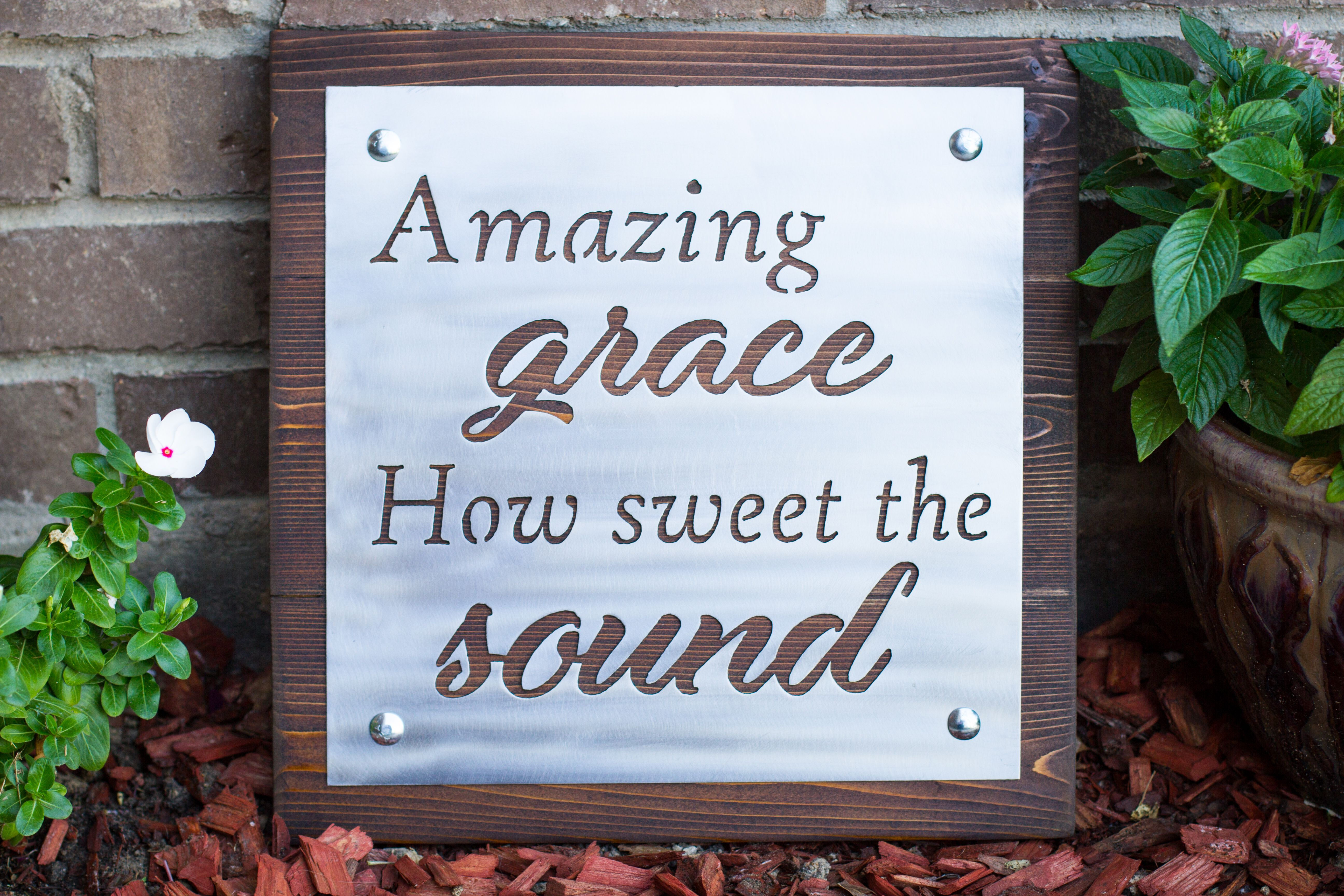 Cedar and Metal Amazing Grace Wall Art. So Beautiful! & Cedar and Metal Amazing Grace Sign | Amazing grace Metals and Walls
