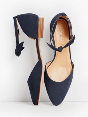 9ac5bf858a8 Talbots: Edison Ankle Strap Flats Suede | Products in 2019 | Shoes ...