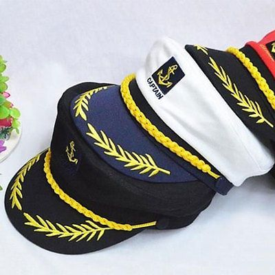 30e32782212 Hot  costume party  sailor ship boat  captain hat navy marins admiral cap
