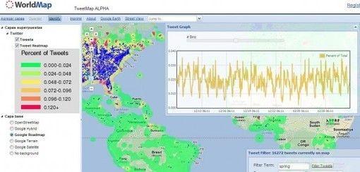 TweetMap, descubriendo en GoogleMaps lo que twittea el planeta