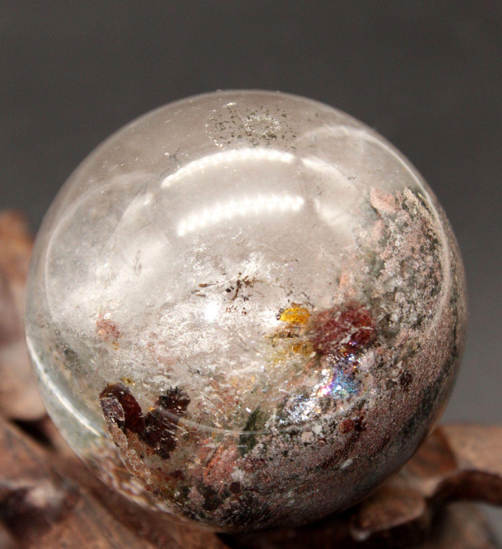 2.4\u0027\u0027 Polished Fairy Quartz Sphere, Scenic Phantom Sphere