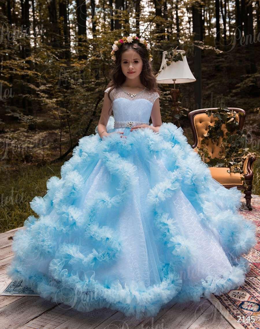 Flower Girls Dress Princess Party Wedding Bridesmaid Kids Formal Gown Dresses