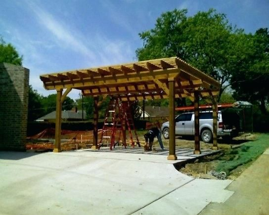 Very Attractive Pergola Carport In Design Construction  Debbiez