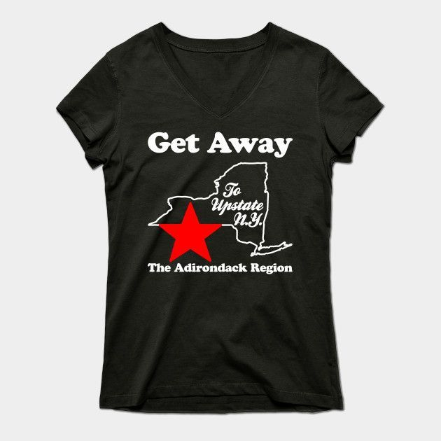Get Away New York Womens V-Neck T-Shirt