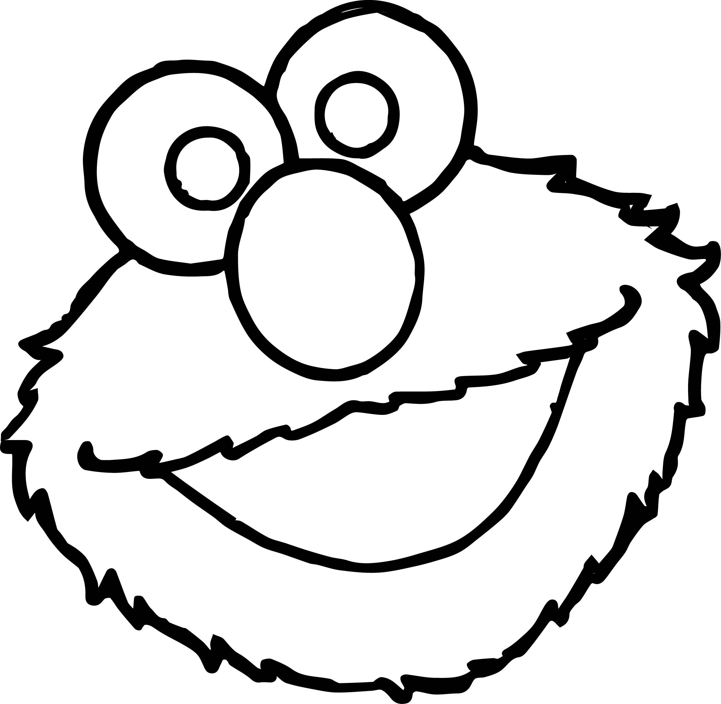 Cool Sesame Street Elmo Face Coloring Page Sesame Street