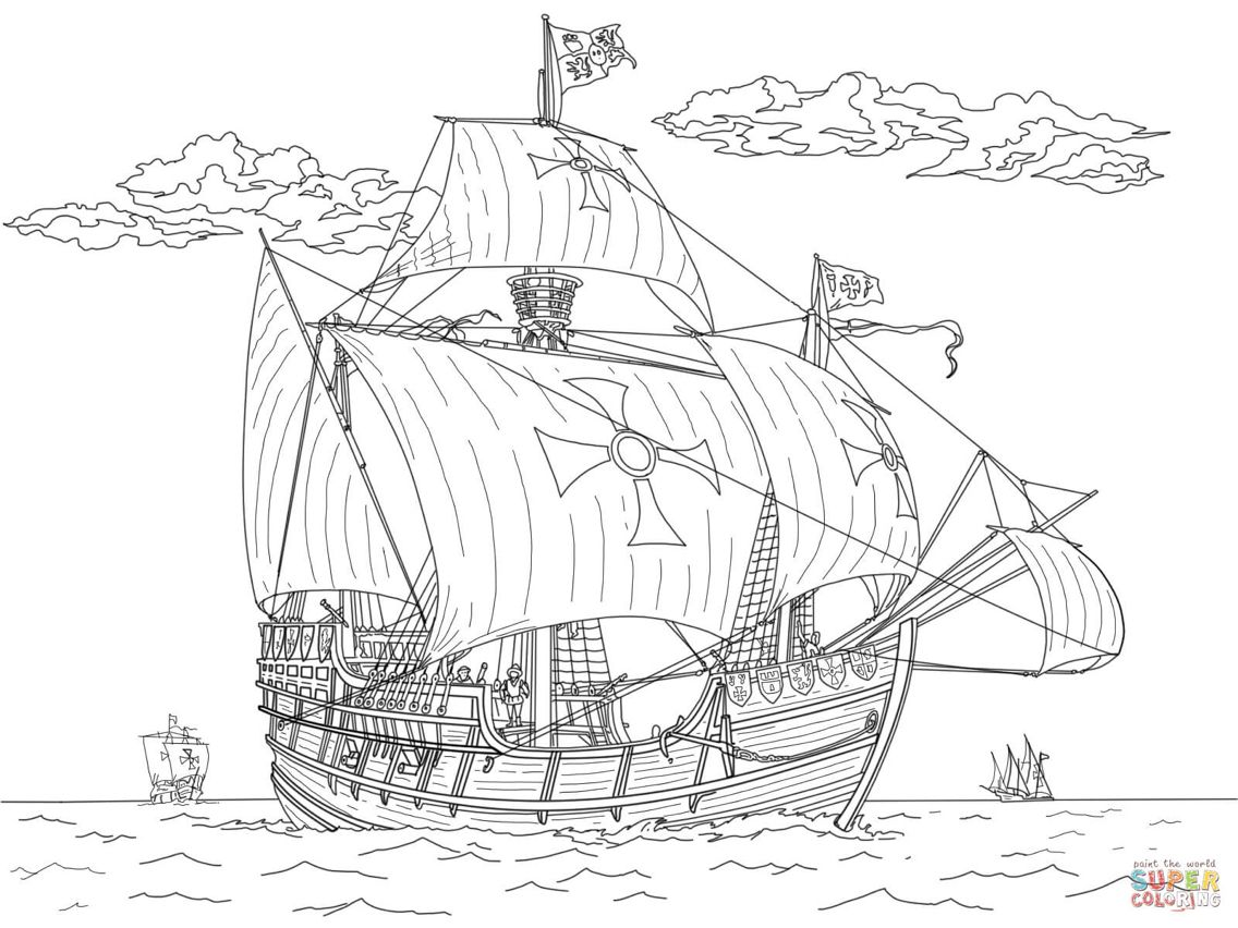 Santa Maria Coloring Pages Free Coloring Pages Moon Coloring Pages
