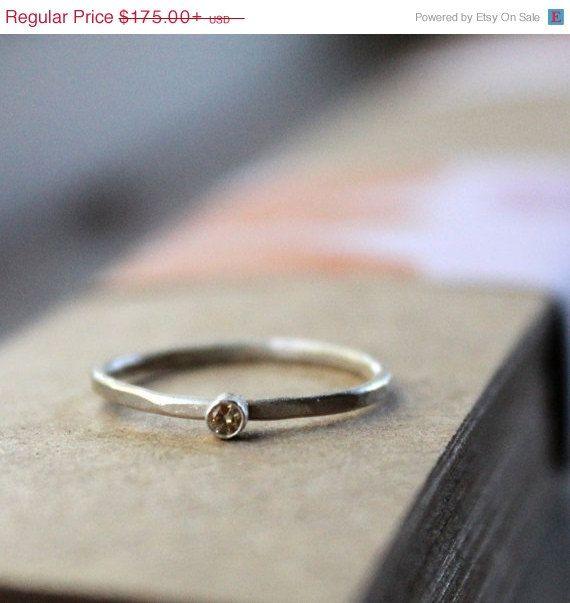 Rustic Diamond Engagement Ring