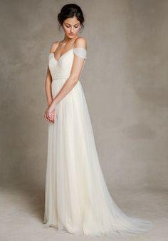 Dream Wedding Dresses Dress With Spaghetti And Shoulder Slip Straps