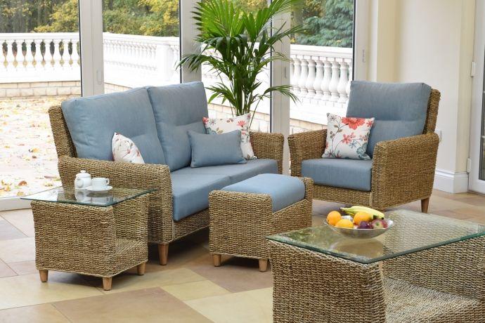 Kentdale Large Sofa Chair Footstool Ottoman Banana Leaf