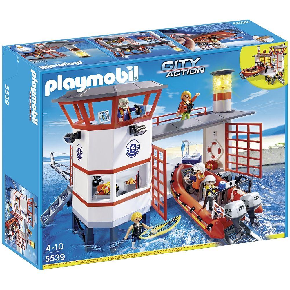 Playmobil Nouveautés 2014 Poste De Secours Des Sauveteurs Des Mer 5539 Playmobil Toys R Us Coast Guard Stations Playmobil Coast Guard