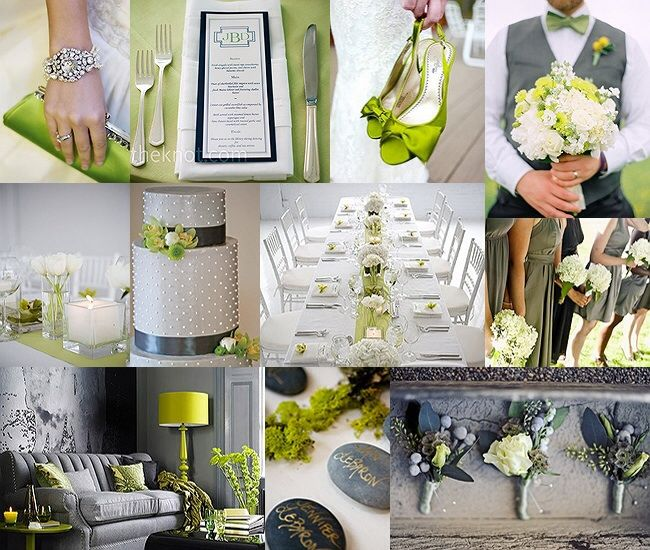 Gorgeous White Wedding Inspiration Bridalguide: Yellow, Green, White & Silver Are Beautiful Together