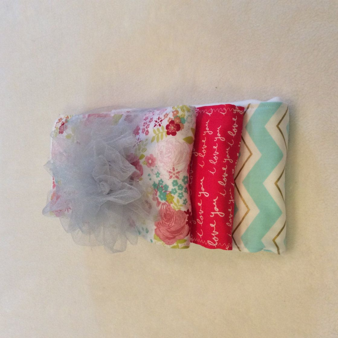 Burp cloth made out of pre-fold diapers, set of three by babiesallaround on Etsy