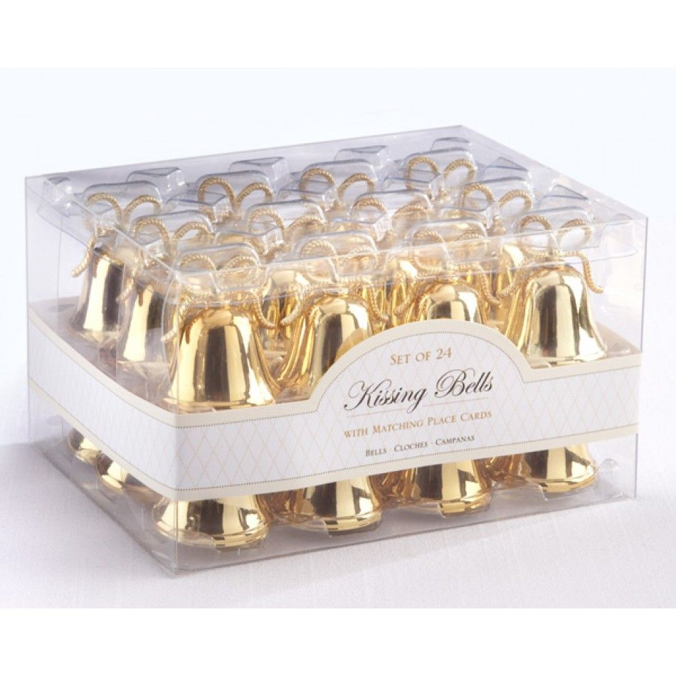 Gold Kissing Bells Place Card Holder [528-12008GD Bell Card Holder ...