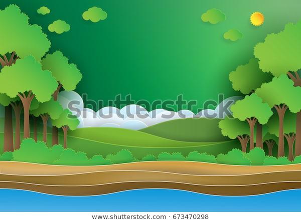 стоковая векторная графика Eco Green Forestsave World