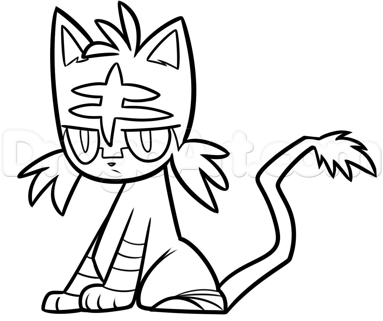 Pokemon Coloring Litten Pokemon Coloring Cartoon Coloring Pages