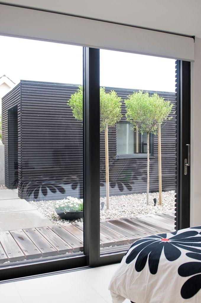 Villa de hormigón, acero y madera   descanso de unos días - diseo de exteriores