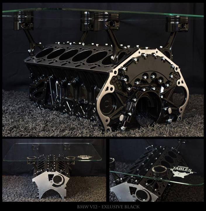 Amazing table basse deco voiture acier meubles table basse de moteur tables mtalliques pices de - Table basse moteur voiture ...