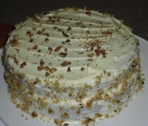 Carrot Cake topped with Pecans