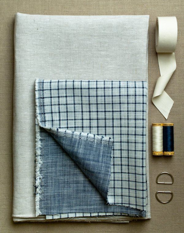 Simple Linen Apron | Mug rugs and potholders and kitchen towels ...
