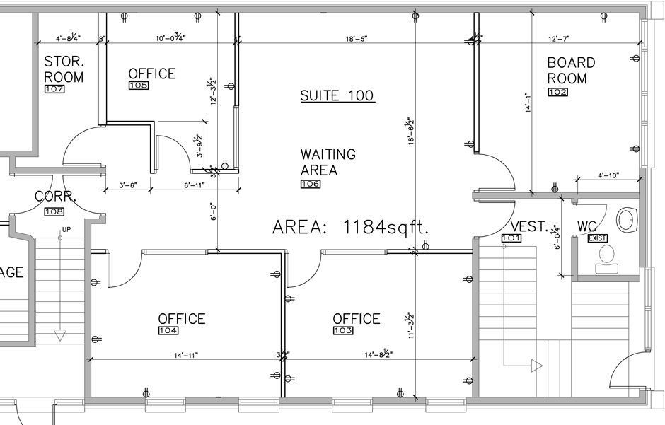Office layout plans office for Commercial building blueprints free