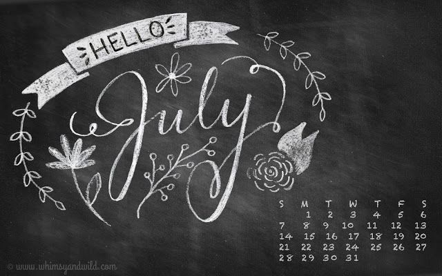 Free hand-lettered desktop calendar on my blog. First time making one, and I really enjoyed it! | whimsy + wild