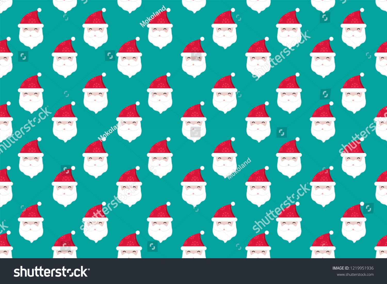 Merry Christmas Pattern Seamless Collection Santa Claus