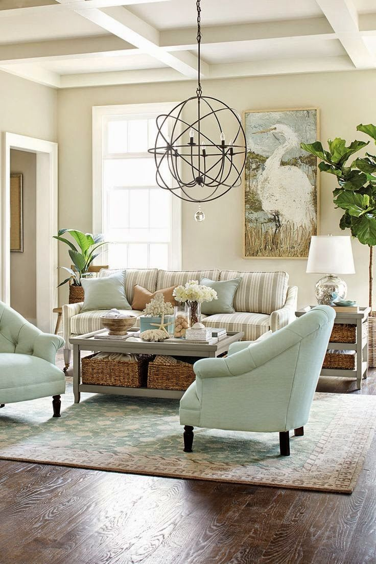 Serenity In The Garden Garden Ideas Earth And Sky Zen Colors Coastal Decorating Living Room Pretty Living Room Coastal Living Rooms #zen #decorating #ideas #living #room