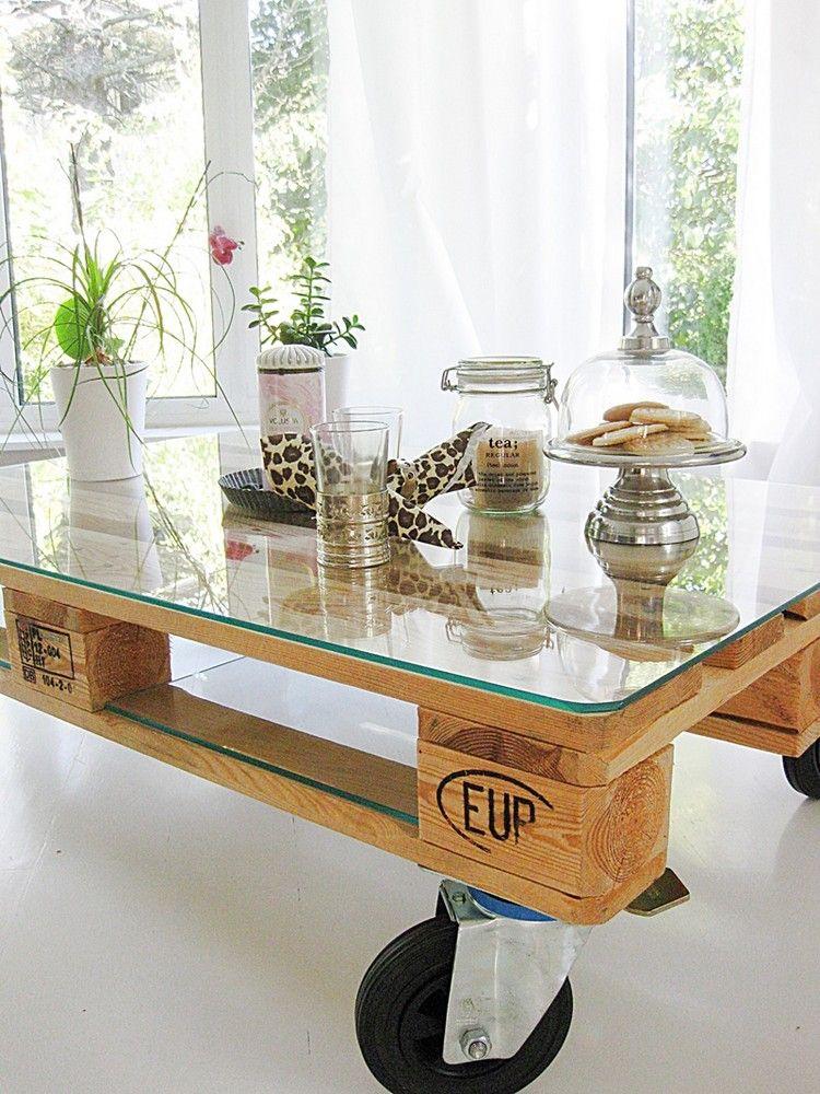 Palettenmobel Selber Bauen Couchtisch Rollen Glas Tischplatte Regal Mobel Aus Paletten Palettenmobel Selber Bauen Couchtisch Europalette