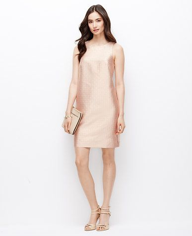 1686917d6a9a Ann Taylor Floral Jacquard Shift Dress. Classic and timeless, a good thing  to have