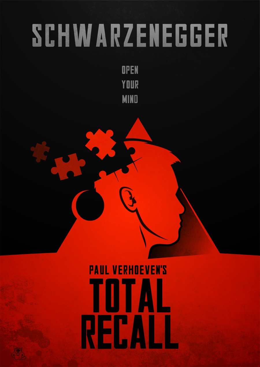 total recall poster by mightybeaverdeviantartcom