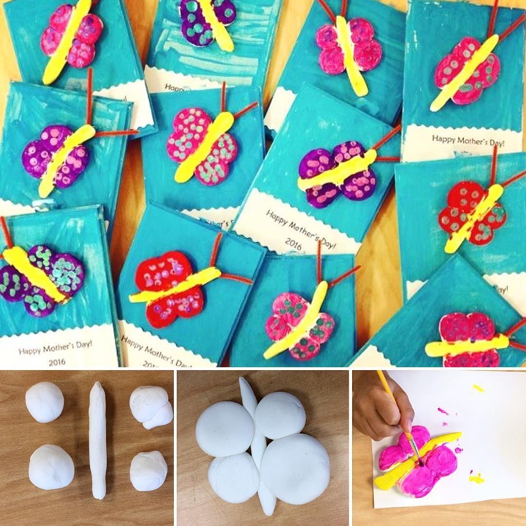 Kindergarten Model Magic Clay Butterflies