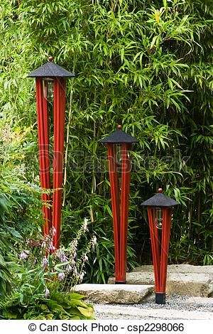 Photo of Lamps in Japanese garden Stock Photo – stock image, images, royalty free photo, …