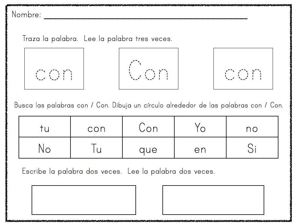 Spanish Sight Words