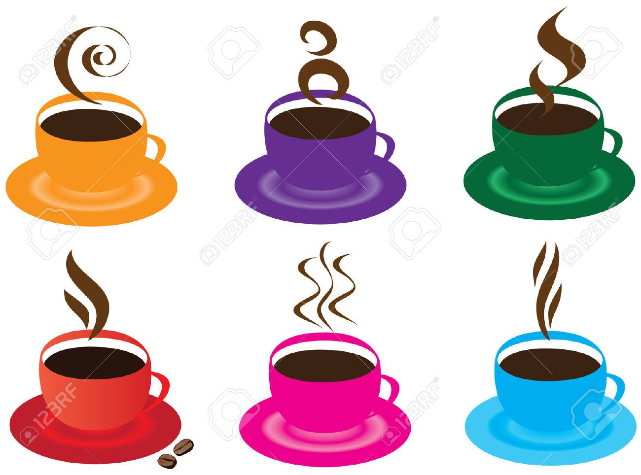 Stock Vector Coffee cups, Steaming cup, Cup