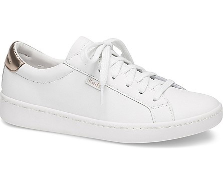 ace mirror leather white rose gold in 2020  white tennis