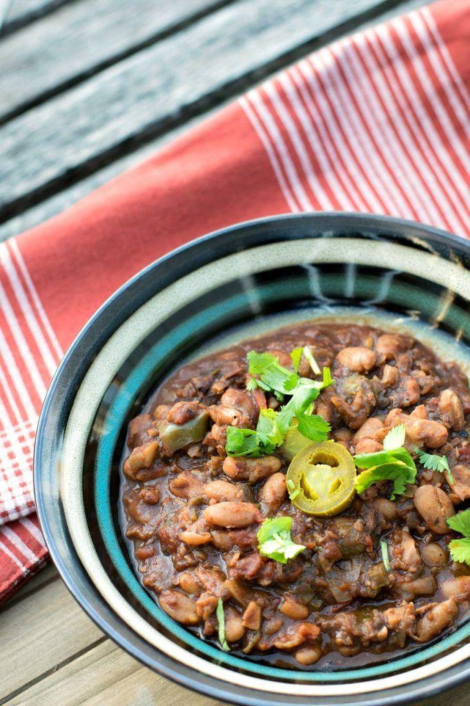 Charro Beans With Vegan Chorizo
