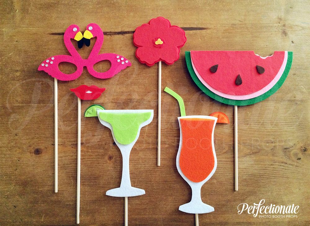 Beach Party Photo Booth Prop Set Summer