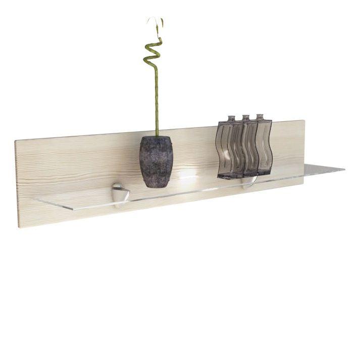 wandregal bari mit glasablage und optionaler led. Black Bedroom Furniture Sets. Home Design Ideas