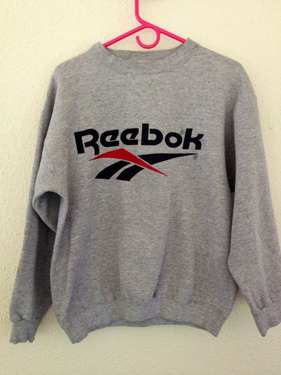 03bbf4d604bdbd 90 s Retro Reebok Crewneck Sweater by freeneasy on Etsy