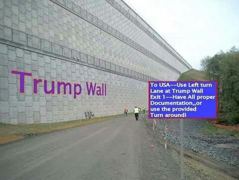 Trump Wall, we need a wall like this to keep illegals out.